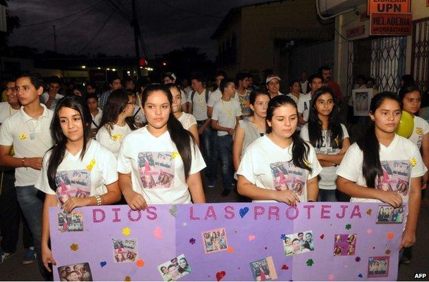 Rally in Santa Barbara, Honduras, 18 November