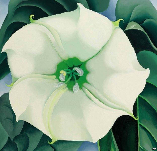 Jimson Weed/White Flower No 1 by Georgia O'Keefe