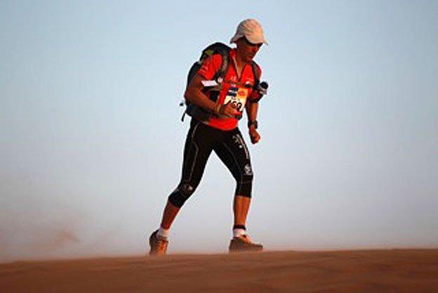 Mauro Prosperi in the desert