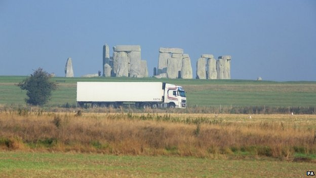 A303 past Stonehenge