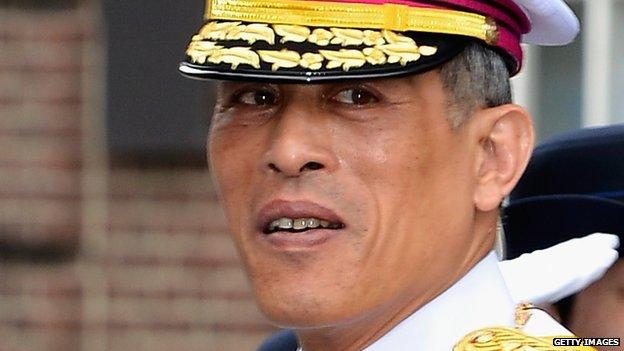 File photograph of Thai Crown Prince Vajiralongkorn