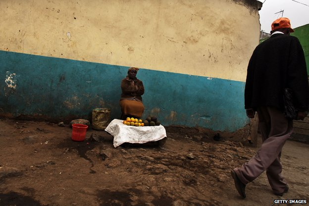 """A woman selling goods in Eastleigh/ """"Little Mogadishu"""""""