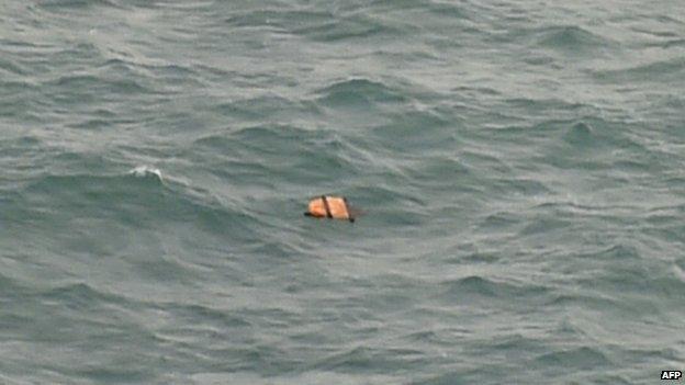 Debris floating in the Java Sea - 30 December
