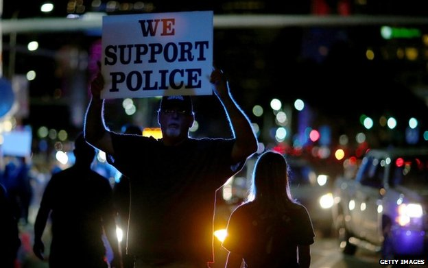Protests supporting police were held in Miami