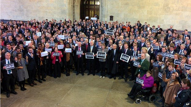 MPs, peers and parliamentary in Westminster Hall