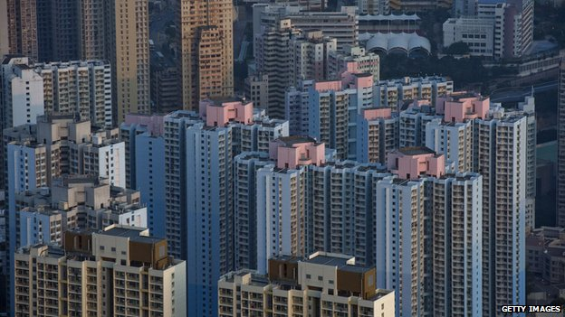 Apartment buildings in Hong Kong (Feb 2014)