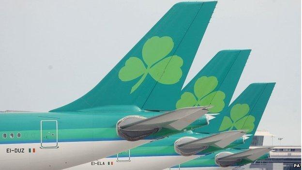 Aer Lingus plane tailfins
