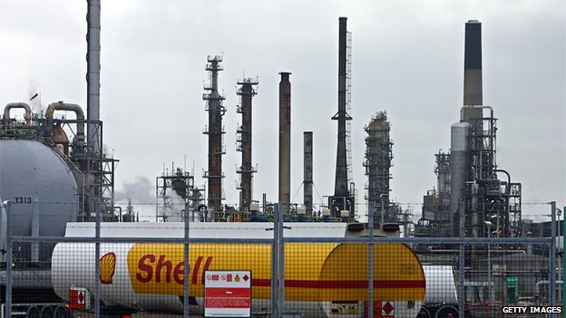 Shell tanker and refinery
