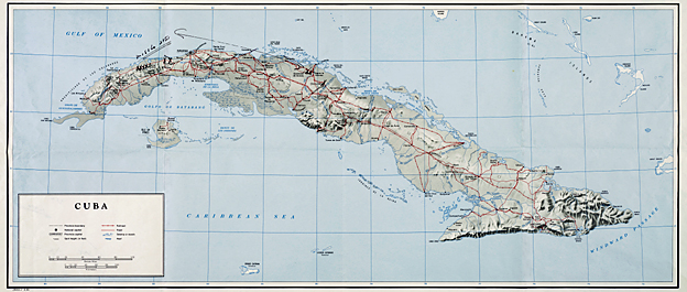 Map from Cuban Missile Crisis, 1962