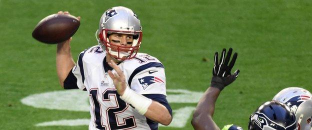 The New England Patriots quarter-back Tom Brady