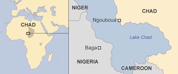 map showing Ngouboua
