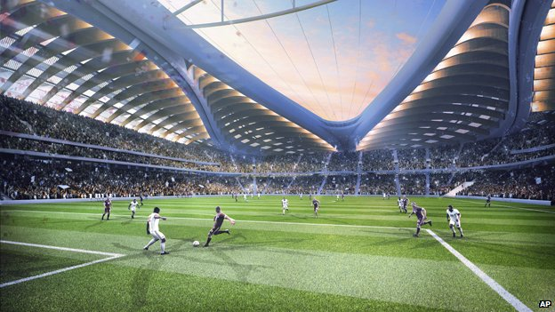 Artist's impression of interior of Al Wakrah stadium