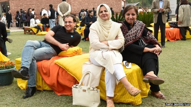 Pakistanis at the Lahore Literary Festival
