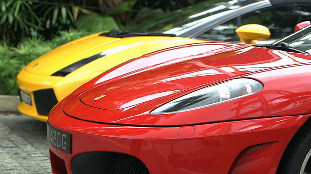 Ferraris are common on the streets of Singapore