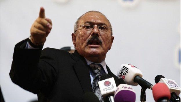 Former Yemen President Ali Abdullah Saleh, 2012