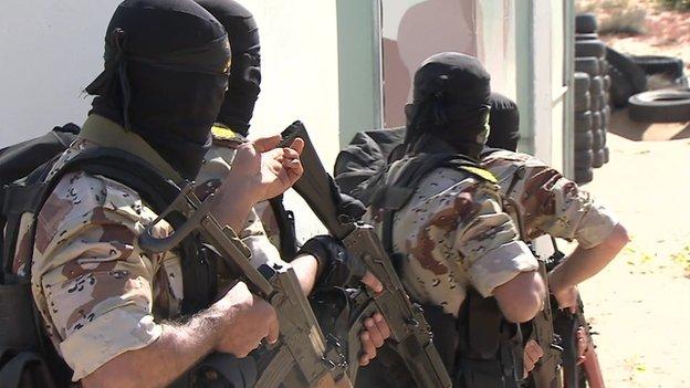 Islamic Jihad fighters