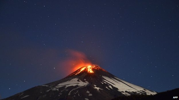 Picture of the Villarrica volcano on 3 March, 2015