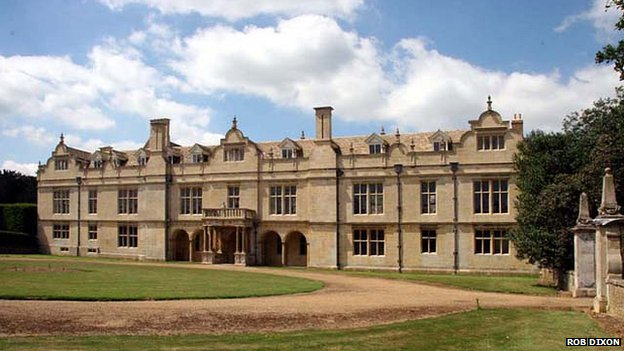 The east front of Apethorpe Hall