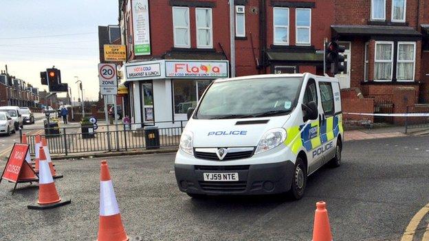 Police at scene of Beeston rape