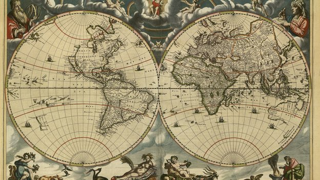 Hist    ria   Uma  in certa antropologia Old World New World Map