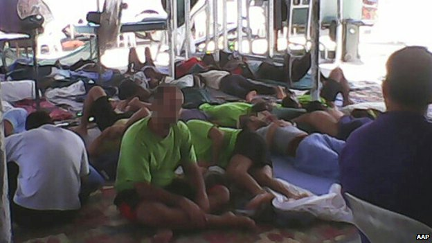 Asylum seekers on Manus Island
