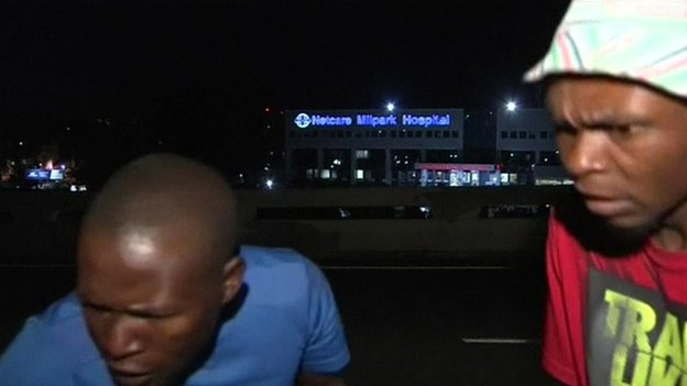 Two men targeting Vuyu Mvoko