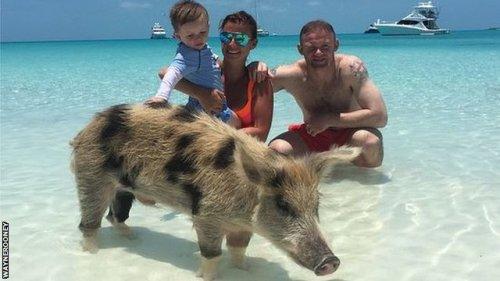 Wayne Rooney's instagram picture