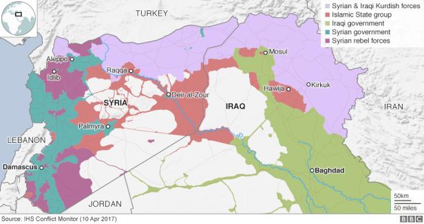 Afbeeldingsresultaat voor conflict map syria iraq