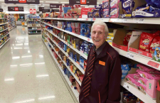 'Britain's oldest supermarket worker' to finally retire aged 95