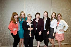 NASHvantage Student Directors with PR advisor Dr. Bonnie Riechert and keynote speaker Kelly Davis, APR (center)