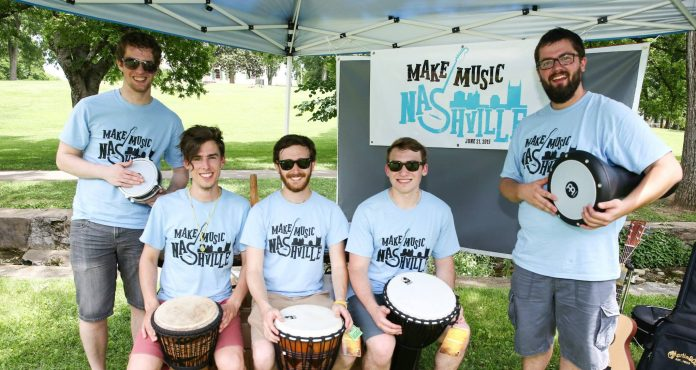 Make Music Nashville 2015 drum circle