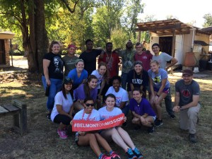 Another group of students pose for a picture during their Plunge experience.