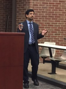 Fakhruddin speaking at Belmont