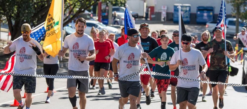 George Chmiel crosses the finish line