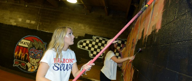 Belmont University's Day of Service, or SERVE, in Nashville, Tenn. August 22, 2016