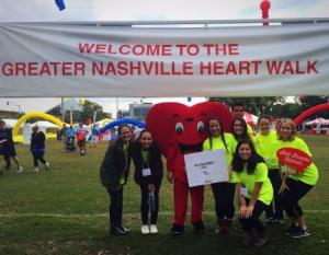Students volunteering at the Heart Walk