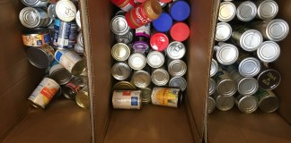 The donation items collected by the Bunch Library at Belmont totaled more than 400 items contributed to Second Harvest Food Bank.