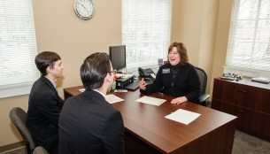 Lisa Doster meets with Law Students regarding their career opportunities.