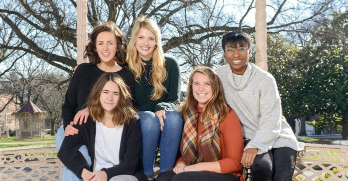 Leaders of Belmont's Delight Ministries campus chapter for 2017