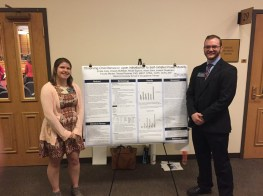 Straatmann and Edwards with their research poster