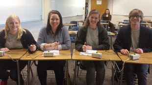 A student team presents at Mathematical Association of America Southeastern Section Meeting