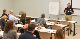 Safety training at Belmont University in Nashville, Tenn. May 11, 2017.