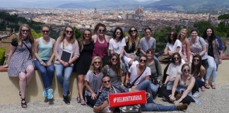 Students on a trip to Rome for study abroad.