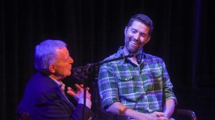 Harry Chapman talks with Josh Turner at Belmont University in Nashville, Tenn. September 6, 2017.
