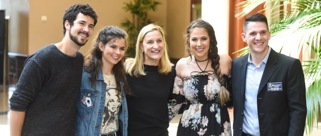 Ruta Sepetys with students