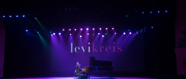 Levi Kreis preforms in the Massey Performing Arts Center