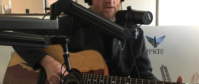 James Elliott in the SDPB studio. Photo by Lee Strubinger