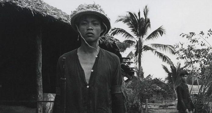 Vietnamese man, black and white