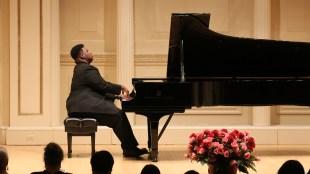 James Matthews performs at Carnegie Hall