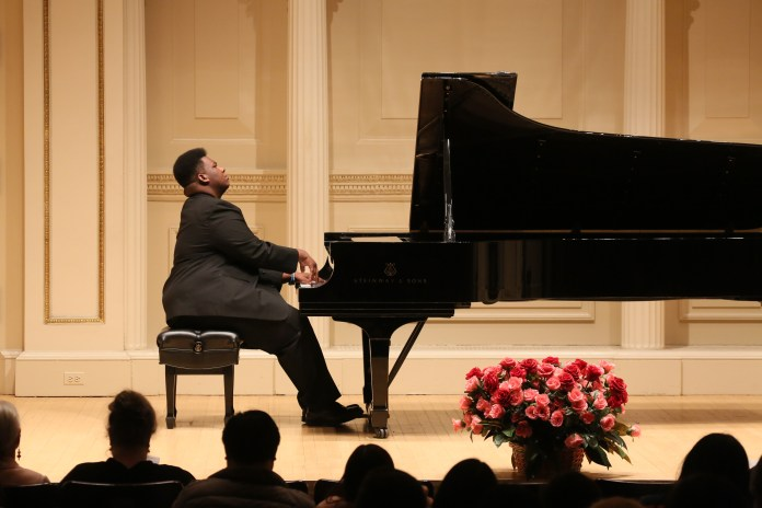 James Matthews performs at Carnegie Hall